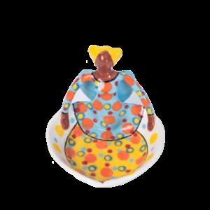 Handmade Ceramic Ubuntu Bowl Bright glaze on white stoneware 1Lady Angel figure