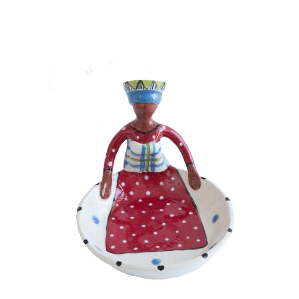 Sweetie Dish Women of Africa_Zulu_Red&Blue