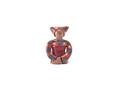 Handmade Ceramic Xhosa Lady Incense Holder bright glaze on stoneware clay